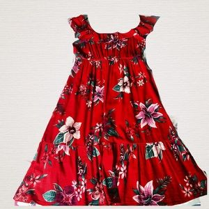 New- Old Navy Midi Ruffle Floral Dress
